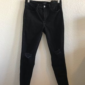 Banana Republic black distressed jean